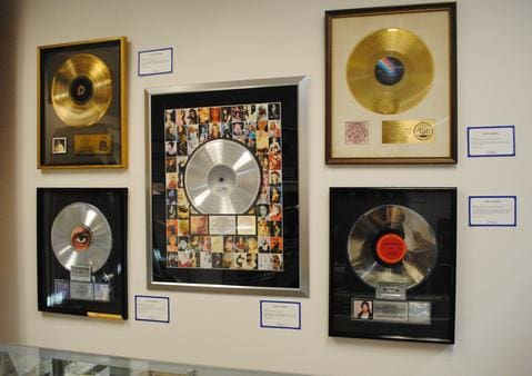 RIAA awards on display