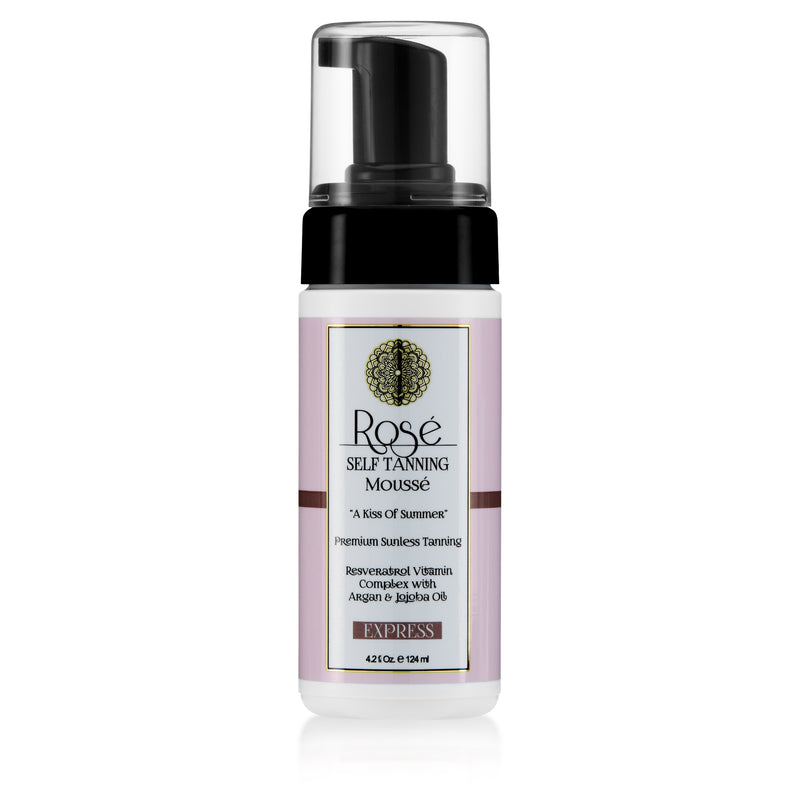 Rose Sunless Tanning Mousse with Resveratrol Vitamin Complex