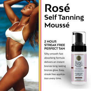 Rose Sunless Tanning Mousse 2 Hour Streak Free Tan