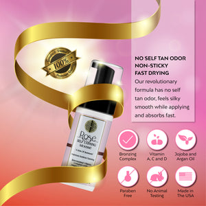 Rose Sunless Tanning Mousse Non Sticky Streak Free Tanning