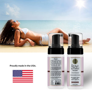 Rose Sunless Tanning Mousse Is Made in the USA