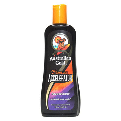 Australian Gold Bronze Accelerator Sunscreen and Mineral Oil Free Tanning Lotion for Indoor and Outdoor Tanning