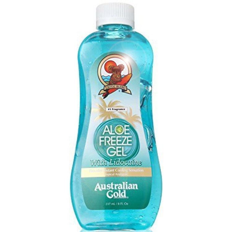 Australian Gold Aloe Freeze Gel with Aloe Vera and Lidocaine for Instant Sunburn Relief