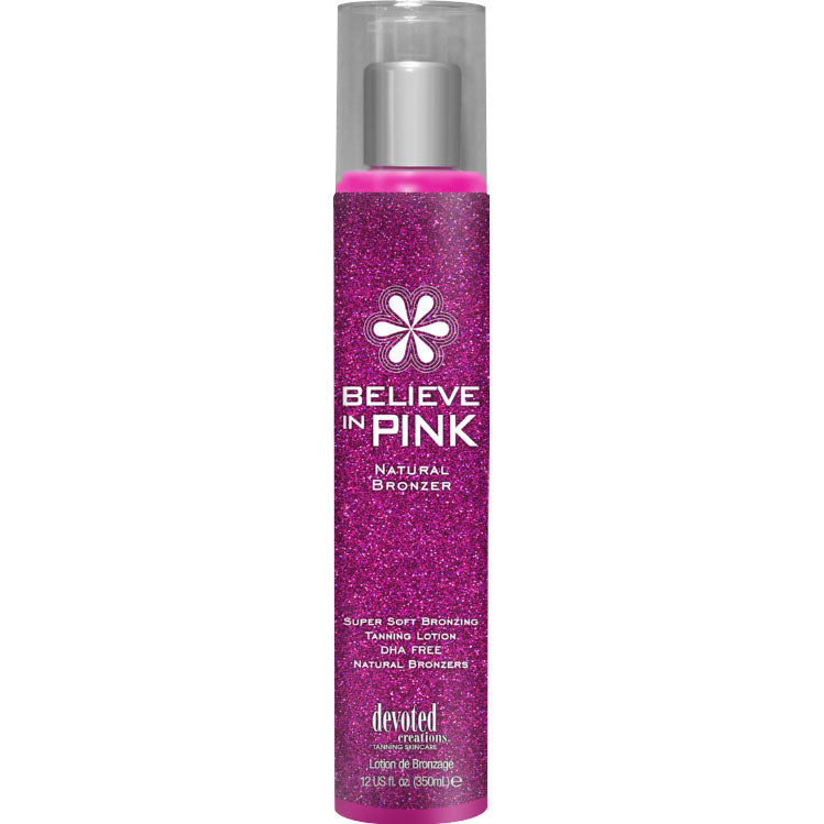 Devoted Creations Believe In Pink Natural Bronzer Indoor Tanning Lotion