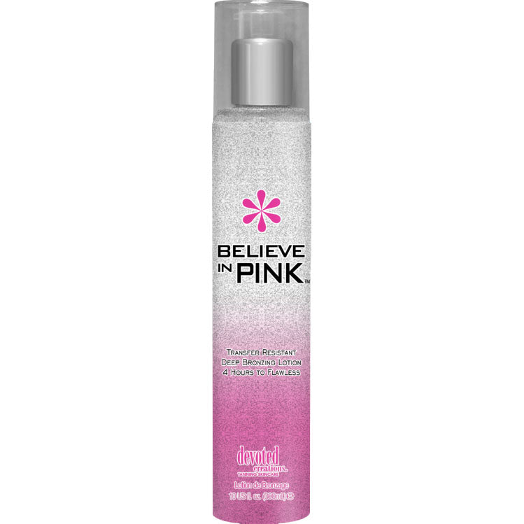Devoted Creations Believe in Pink White Bronzer Indoor Tanning Lotion