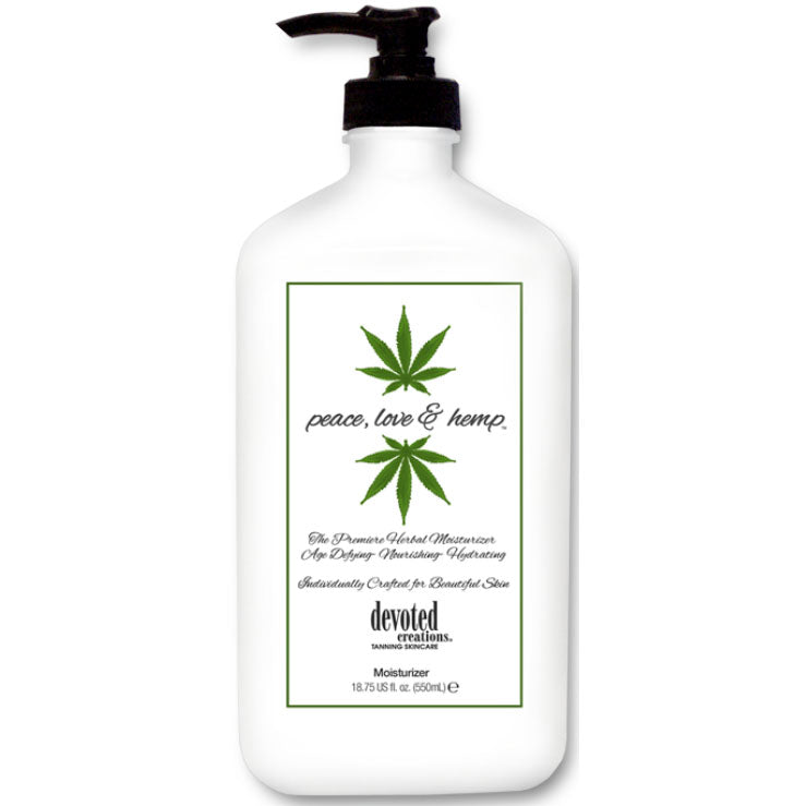 Devoted Creations Peace, Love & Hemp Daily Moisturizer and Tan Extender