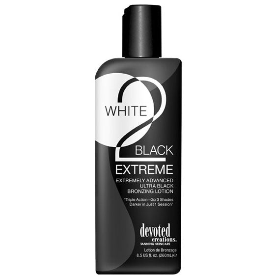 Devoted Creations White 2 Black Extreme Bronzing Indoor Tanning Bed Lotion