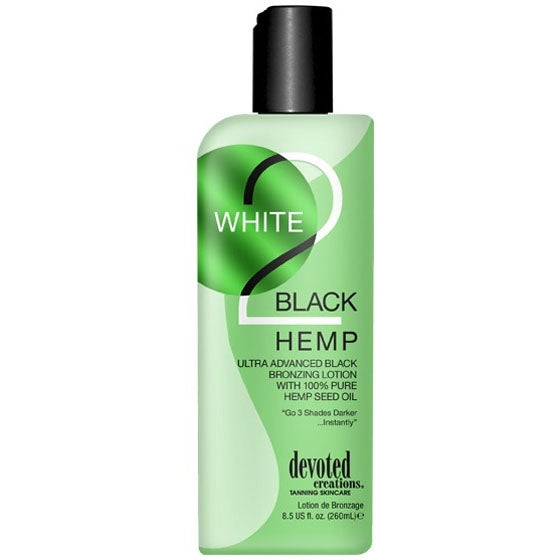 Devoted Creations White 2 Black Hemp Indoor Tanning Lotion