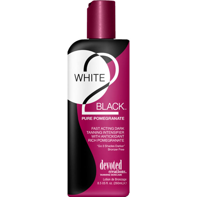 Devoted Creations White 2 Black Pomegranate Bronzer Free Indoor/Outdoor Tanning Lotion