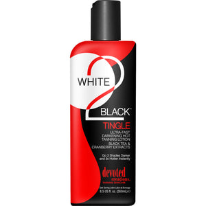 Devoted Creations White 2 Black Bronzer Free Hot Tingle Indoor Tanning Lotion