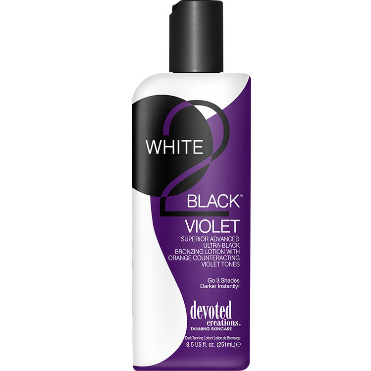 Devoted Creations White 2 Black Violet Bronzing Indoor Tanning Bed Lotion