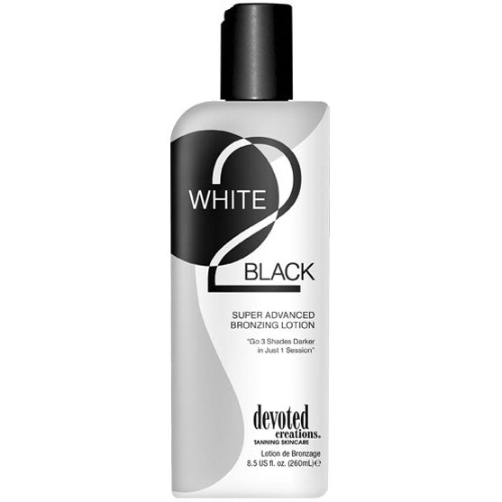 Devoted Creations White 2 Black Advanced Bronzing Tanning Lotion for Indoor Tanning