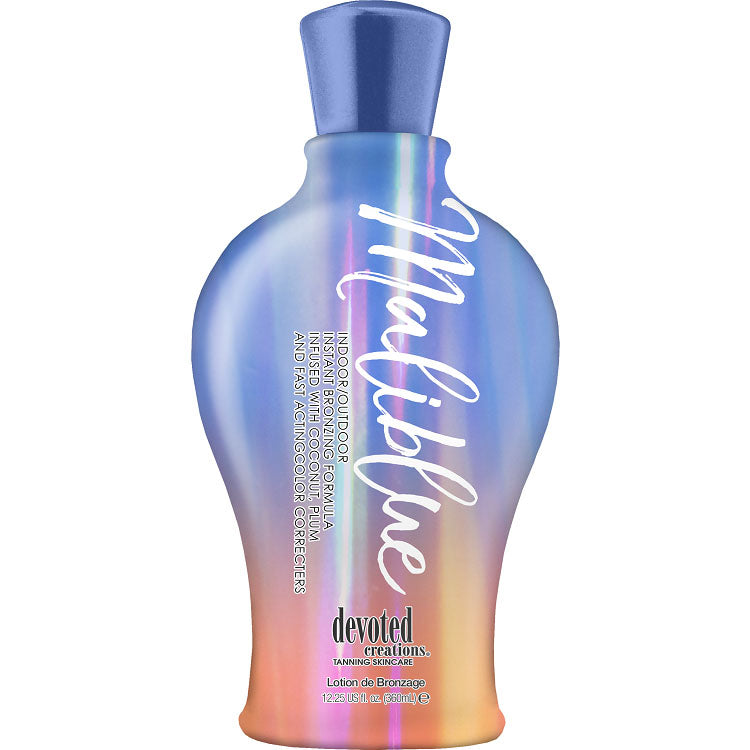 Devoted Creations Maliblue Fast Acting Color Correcting Bronzing Tan Enhancing Tanning Lotion for Indoor and Outdoor Tanning