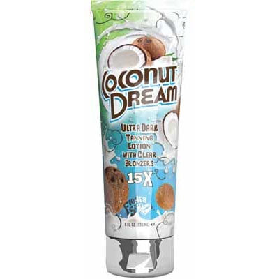 Fiesta Sun Coconut Dream Tanning Lotion with Clear Bronzers for Indoor and Outdoor Tanning