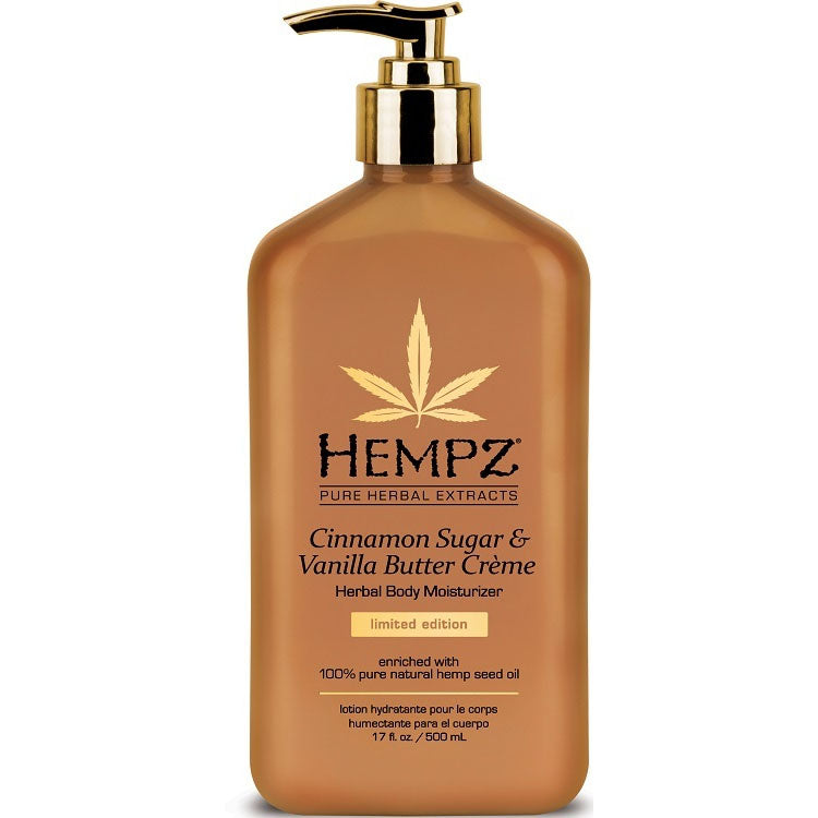 Hempz Cinnamon Sugar & Vanilla Butter Creme Limited Edition Herbal After Tan and Daily Body Moisturizer