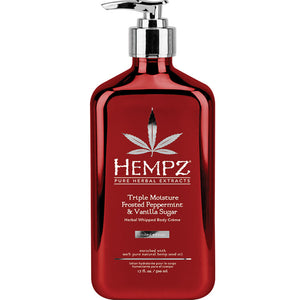 Hempz Triple Moisture Frosted Peppermint & Vanilla Sugar Limited Editon Herbal Whipped Body Moisturizer