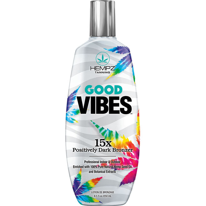 Hempz Good Vibes 15X Dark Bronzer Paraben Free Tanning Bed Lotion