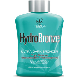 Hempz Hydro Bronze Tanning Lotion with Ultra Dark DHA Free Bronzers
