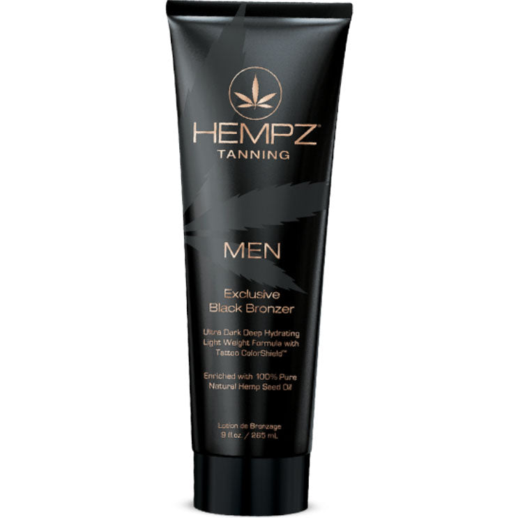 Hempz Mens Black Bronzer Indoor Paraben Free Tanning Bed Lotion