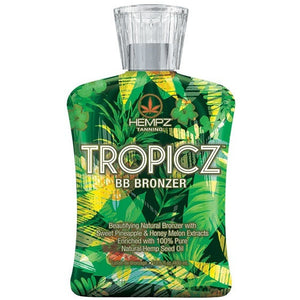 Hempz Tropicz Bronzing Tanning Lotion for Indoor Tanning Beds
