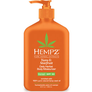 Hempz Yuzu & Starfruit Daily Body Moisturizer with SPF 30