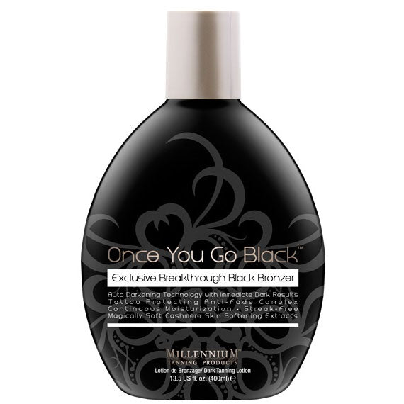 Millennium Once You Go Black Streak Free Bronzing Tanning Lotion