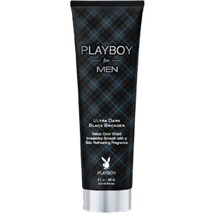 Playboy for Men Ultra Dark Black Bronzer Tanning Lotion for Indoor Tanning Beds