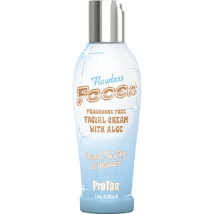 Pro Tan Flawless Faces Tanning Lotion.  Fragrance Free Tanning Lotion for Face
