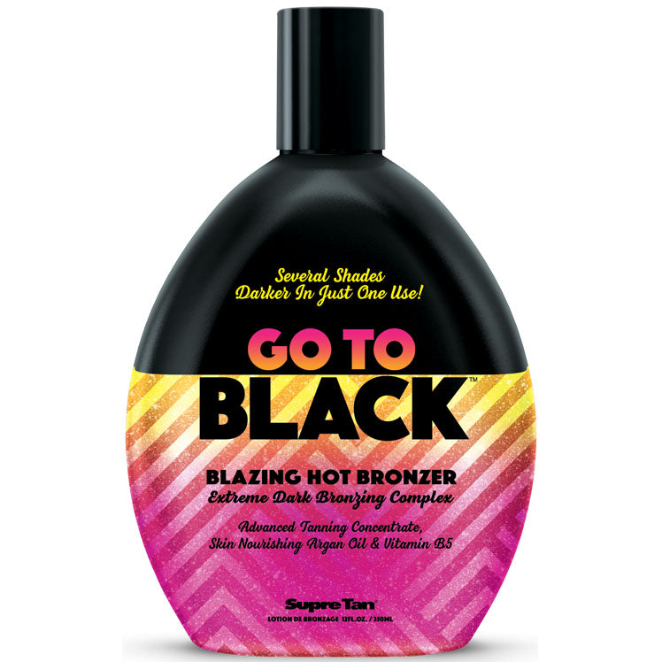 Supre Tan Go to Black Blazing Hot Tingle Bronzing Tanning Lotion for Indoor Tanning