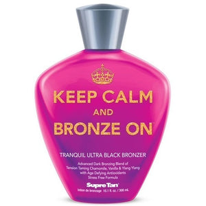 Supre Tan Keep Calm & Bronze On Black Bronzer Tanning Lotion