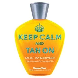 Supre Keep Calm and Tan On Facial Maximizer Tanning Lotion