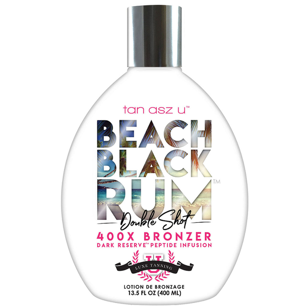 Tan Asz U Beach Black Rum Double Shot 400X Bronzer Tanning Lotion