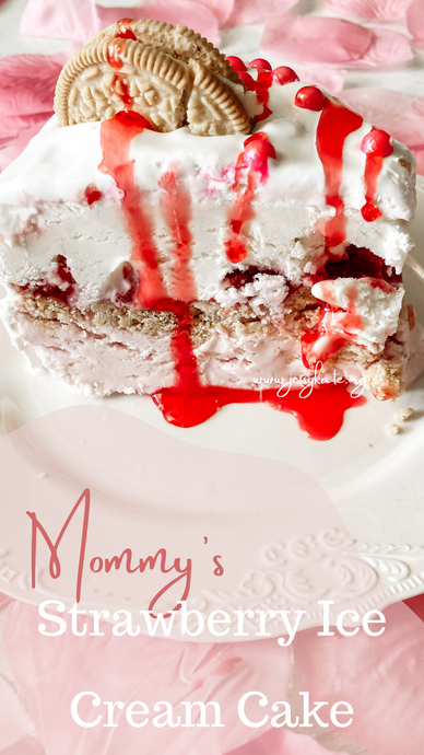 Mommy's Strawberry Ice Cream Cake
