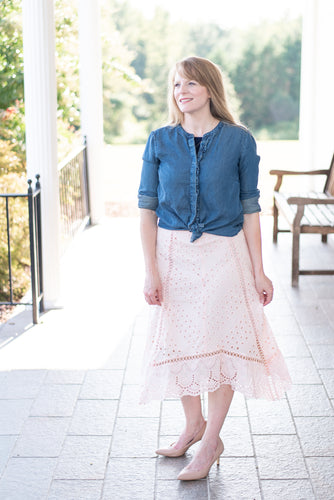 The Blush Eyelet Skirt