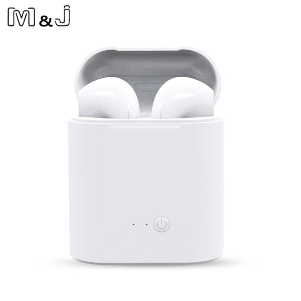 Wireless Bluetooth Earphones for iPhone w/ Charging Box