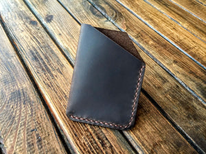 Leather Card Case (Brown) - Nebo Workshop