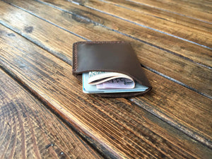 leather brown cardholder