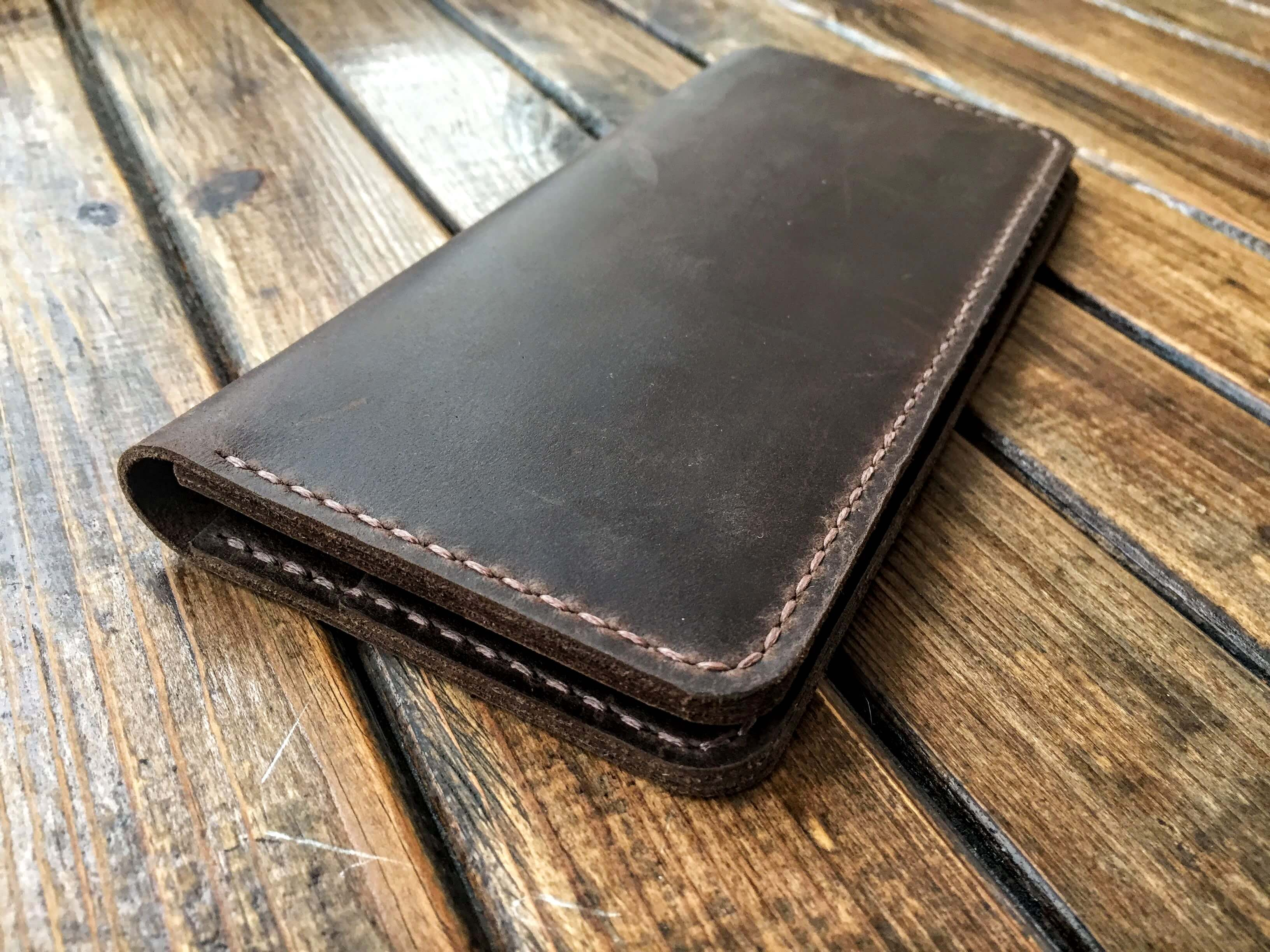 handcrafted brown leather wallet