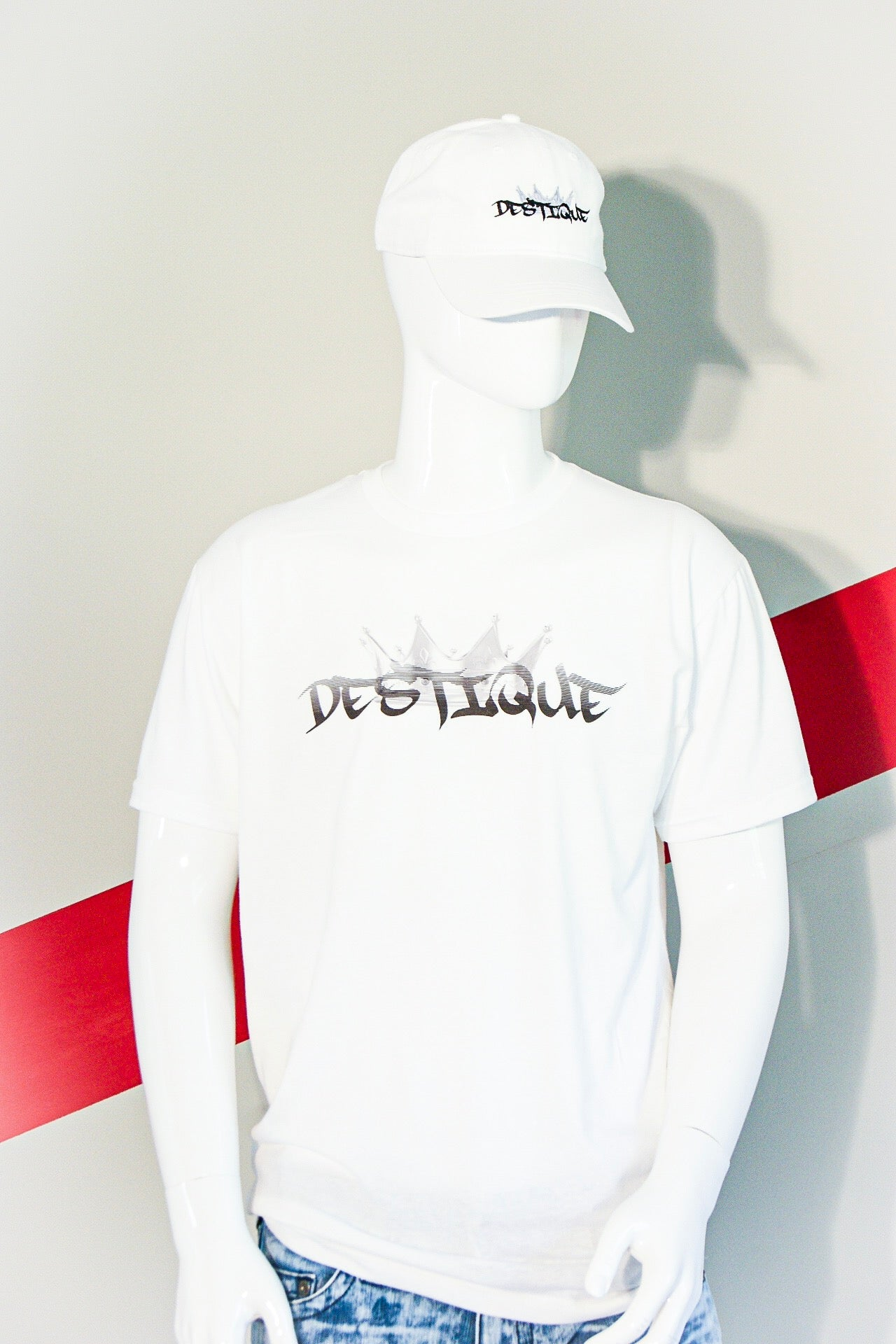 Destique White Logo Tee