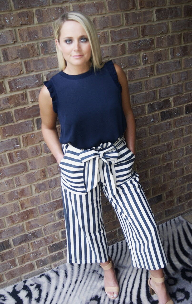 Gilli Lilly Stripe Crop Pants