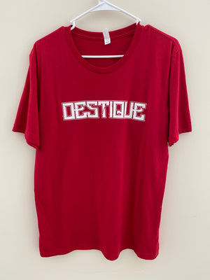 Red Destique Logo Tee