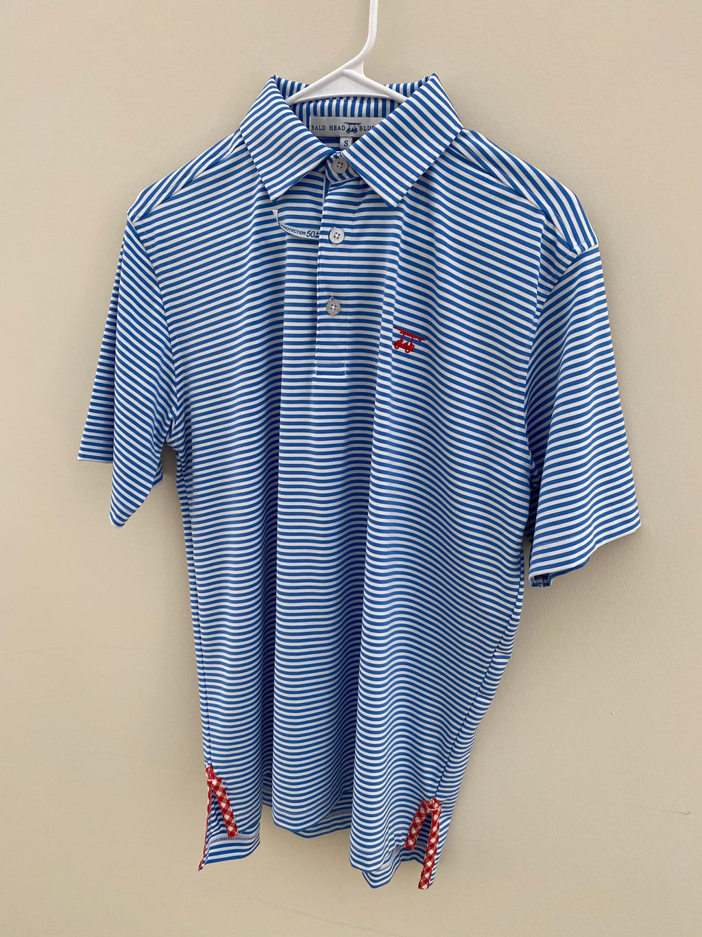 Blue/White Stripe Polo