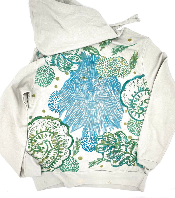 *Lion Friend in the Blooms Hoodie