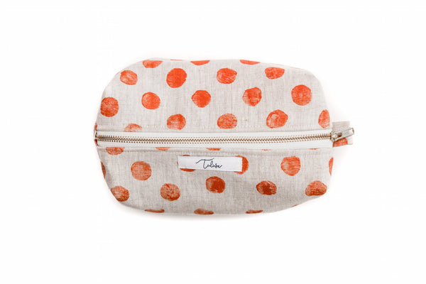 Traveler Kit in Coral Polka Dots Tulusa