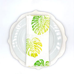 Monstera Linen Napkins in Prickly Pear (Set of 4)