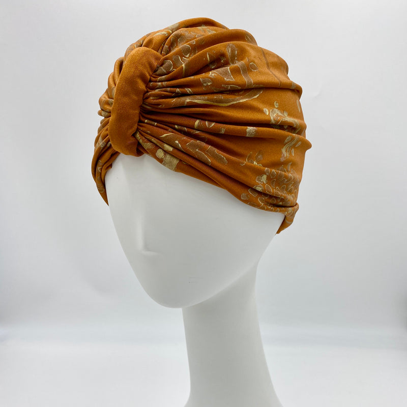 Dmaran x Tulusa Turban Collaboration with Gold Mehendi in Bronze Turban