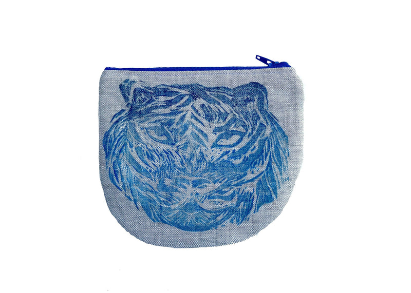 Tiger Pouch in Blue Tulusa