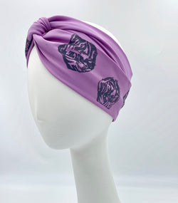 Dmaran x Tulusa Loop Knotted Stretchy Head-Wrap Collaboration with Petite Tiger in Pewter