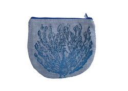 Peacock Pouch in Blue Tulusa