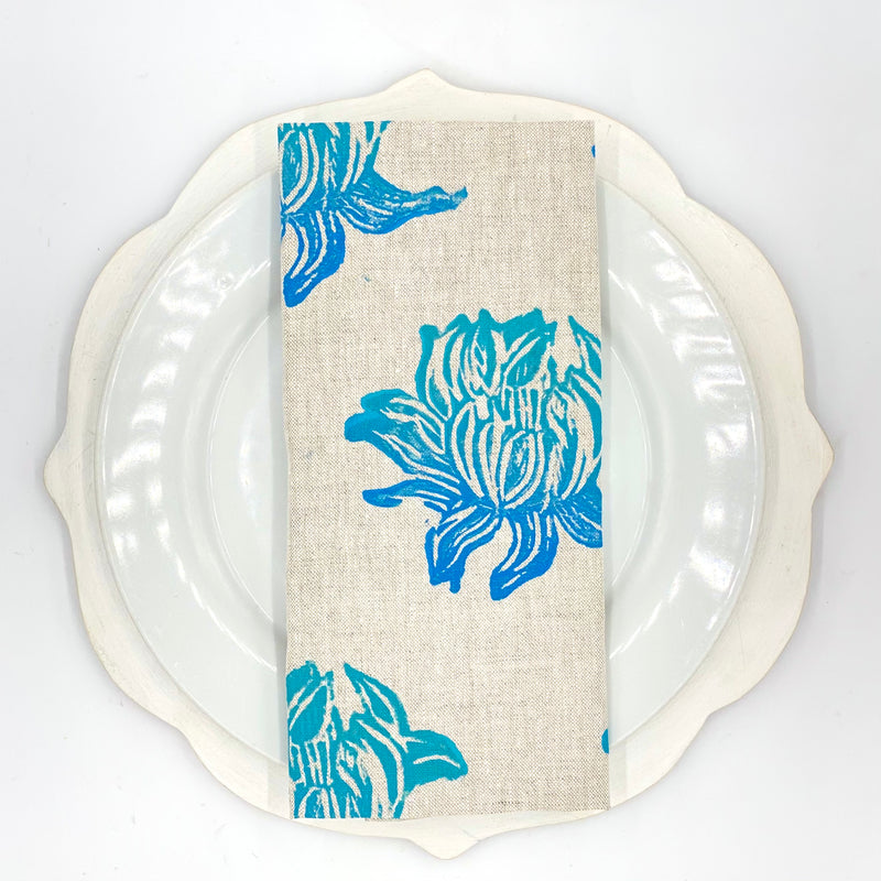 Lotus Linen Napkins in Huckleberry (Set of 4)
